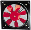 Axial fan for installation in the flat profiles